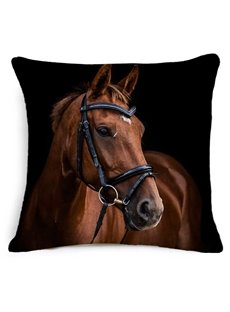 Awesome 3D Horse Printed Square Throw Pillow
