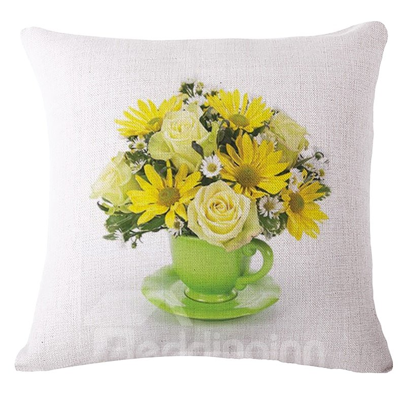 Throw Pillow Arrangement : Gorgeous Saucer Arrangement Print Square Throw Pillow - beddinginn.com