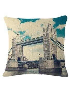 Magnificent London Tower Bridge Print Throw Pillow