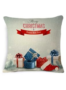 Decorative Christmas Gift Box Print Throw Pillow