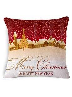 Gorgeous Vintage Merry Christmas Print Throw Pillow