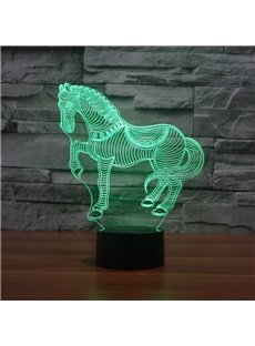 Three Dimensional Creative Design Horse Shape Touch Sensor USB LED Light