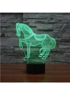 Three Dimensional Creative Design Horse Shape Touch Sensor USB LED Light