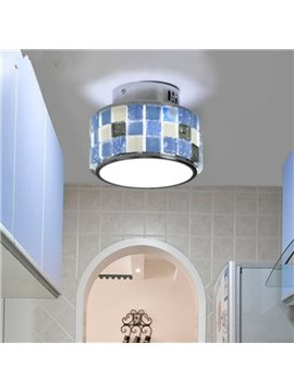 Modern Creative Mediterranean Style Crystal Seashell Decoration Flush Mount