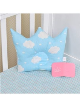 Super Cute and Soft Crown Shape Prevent Flat Head Baby Pillow