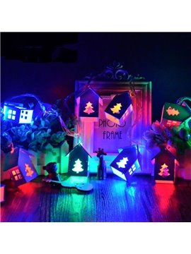 Fancy Cute Christmas Cartoon House Shape 13.1 Feet Decorative LED Lights