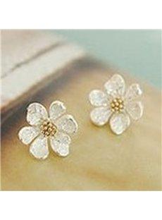 Vivid Cute Flower Design Alloy Earrings