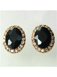 Charming Crystal Ellipse Design Women Earrings