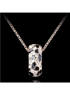 Shining Rhinestone Simple Design Alloy Jewelry Sets