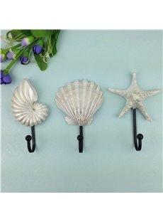 Amazing Simple Style Starfish and Seashell Shape Decorative Wall Hooks