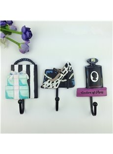 Modern Fashion High-heeled Shoes and Perfume Design Decorative Wall Hooks