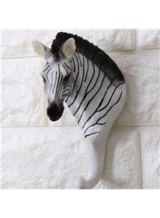 Creative Design Resin Zebra Shape Home Decorative Wall Hooks