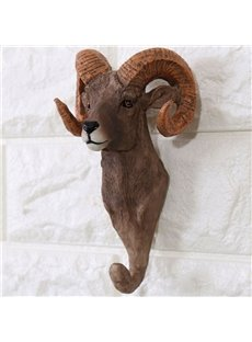Vivid Resin Creative Design Antelope Shape Home Decorative Wall Hooks