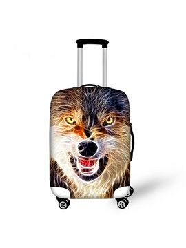 Angry Wolves Pattern 3D Painted Luggage Cover