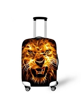 Fashion Fire Lion Pattern 3D Painted Luggage Cover
