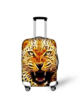 Cool Leopard Pattern 3D Painted Luggage Cover