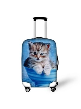Cute Little Cat Pattern 3D Painted Luggage Cover