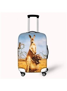 Vivid Kangaroo Pattern 3D Painted Luggage Cover