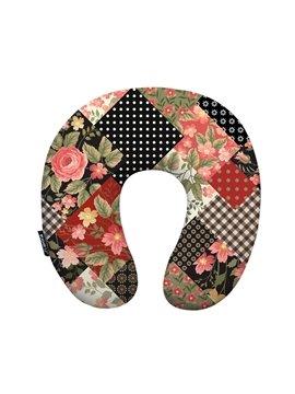 Rural Style Floral Print U-Neck Travel Pillow