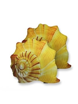 Mediterranean Style Ocean Conch Shaped Throw Pillow