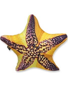 Stylish 3D Starfish Shaped Decorative Throw Pillow