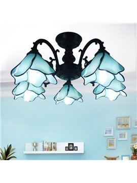 Gorgeous European Style Iron Tiffany Style 5 Bulbs Home Decorative Flush Mount