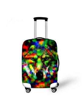 Special Wolve Pattern 3D Painted Luggage Protector Cover