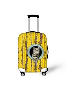 Vintage Cute Animals Pattern 3D Painted Luggage Protector Cover