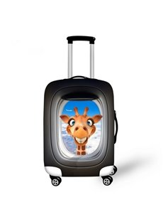 Funny Cartoon Giraffe Pattern 3D Painted Luggage Cover