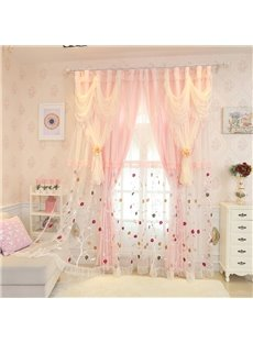 Vivacious Leaf Printed Sheer and Shading Cloth Sewing Together Custom Blackout Curtains