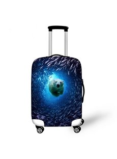 Creative Animals in Ocean Pattern 3D Painted Luggage Cover