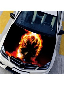Calcination Art Design Attractive Flame Effect Front Car Sticker