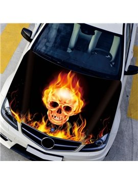 Fashion Skull And Crossbones Puff The Flame Creative Car Sticker