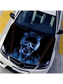 Strange Evil Cool Blue Skull Design Creative Car Front Sticker