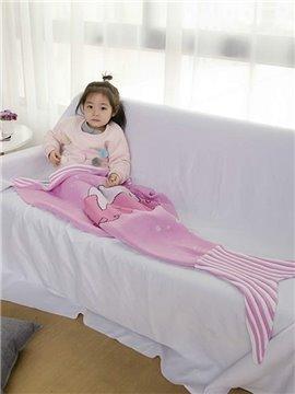Super Lovely Soft Pink Baby Mermaid Blanket