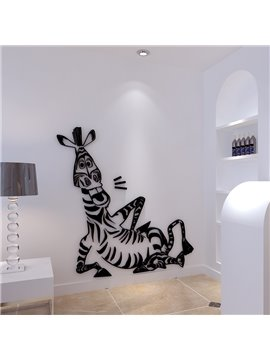 Leisurely Cute Zebra Shape Acrylic Home Decorative 3D Wall Stickers
