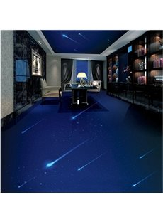 Blue Simple Style Quiet Starry Sky Design Waterproof Splicing 3D Floor Murals