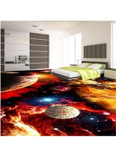 Splendid Modern Design Galaxy Pattern Waterproof Splicing 3D Floor Murals