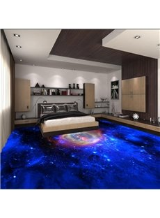 Special Design Galaxy Print Waterproof Splicing Decorative 3D Floor Murals