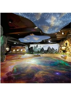 Amazing Modern Design Galaxy Print Waterproof Splicing 3D Floor Murals