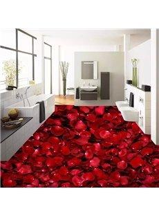 Romantic Rose Petals Pattern Home Decorative Waterproof 3D Floor Murals