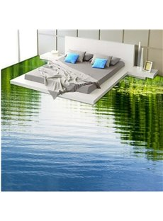 Calm Limpid Lake Print Design Home Decorative Waterproof Splicing 3D Floor Murals