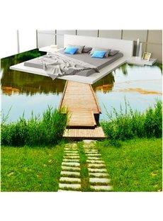 Vivid River Scenery Pattern Home Decorative Waterproof Splicing 3D Floor Murals