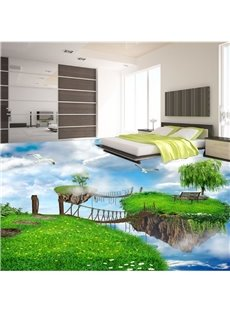 Charming Natural Scenery Pattern Nonslip and Waterproof 3D Floor Murals