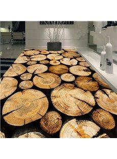 Creative Design Round Tree Rings Print Nonslip and Waterproof 3D Floor Murals