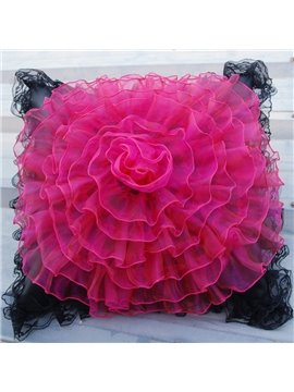 Big Size Beautiful Flower Lace Style Design Single Muti-Use Car Pillow