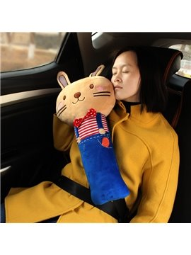Big Cute Cartoon Rabbit Design Long Comfortable Car Belt Cover