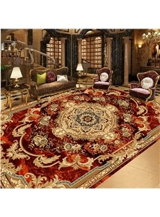 Classic Modern Fashion Design Flower Print Area Rug Design Waterproof 3D Floor Murals