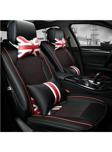 Fashion Union Jack And Classic PU Leather Ice Silk Material Car Seat Cover