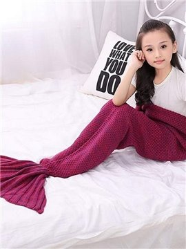 Cute Solid Multicolor Option Mermaid Tail Design Blanket